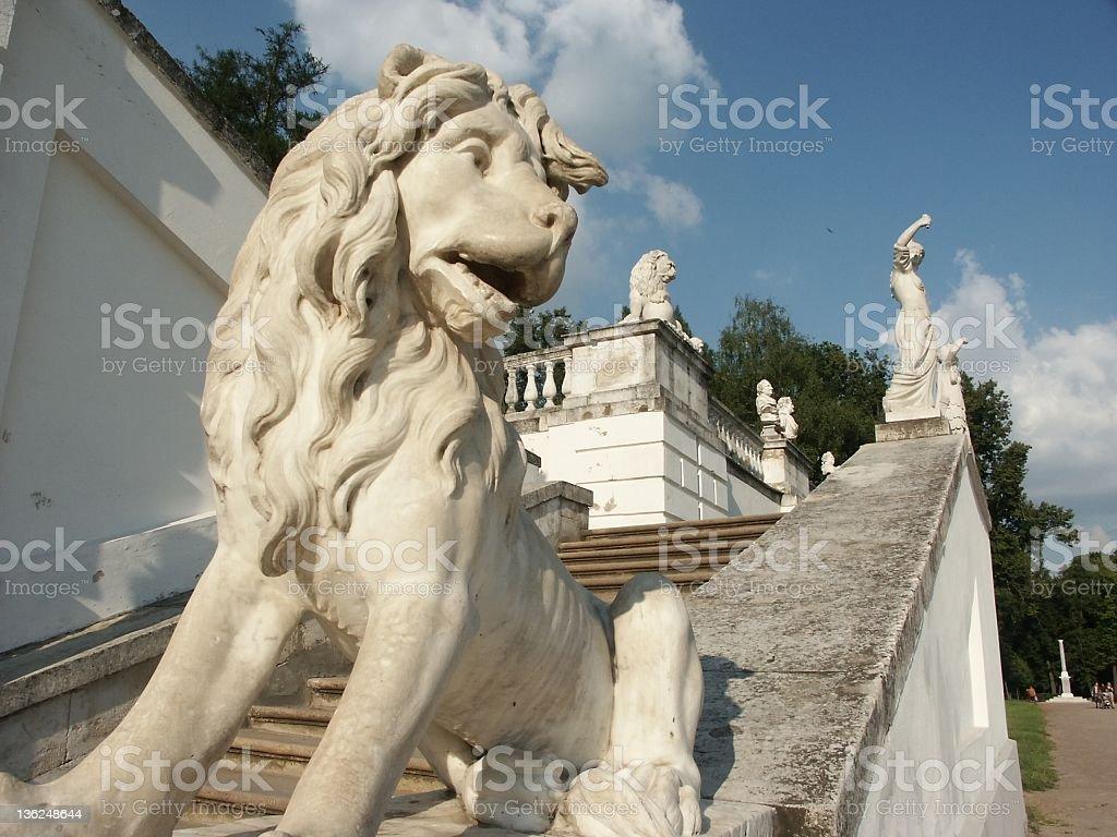 marble park sculpture - lion royalty-free stock photo