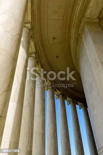 Marble pillars of Jefferson Memorial, Washington DC