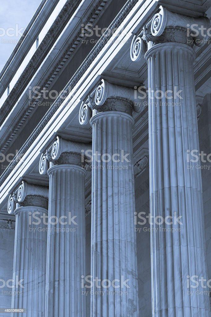 Marble Pillars stock photo