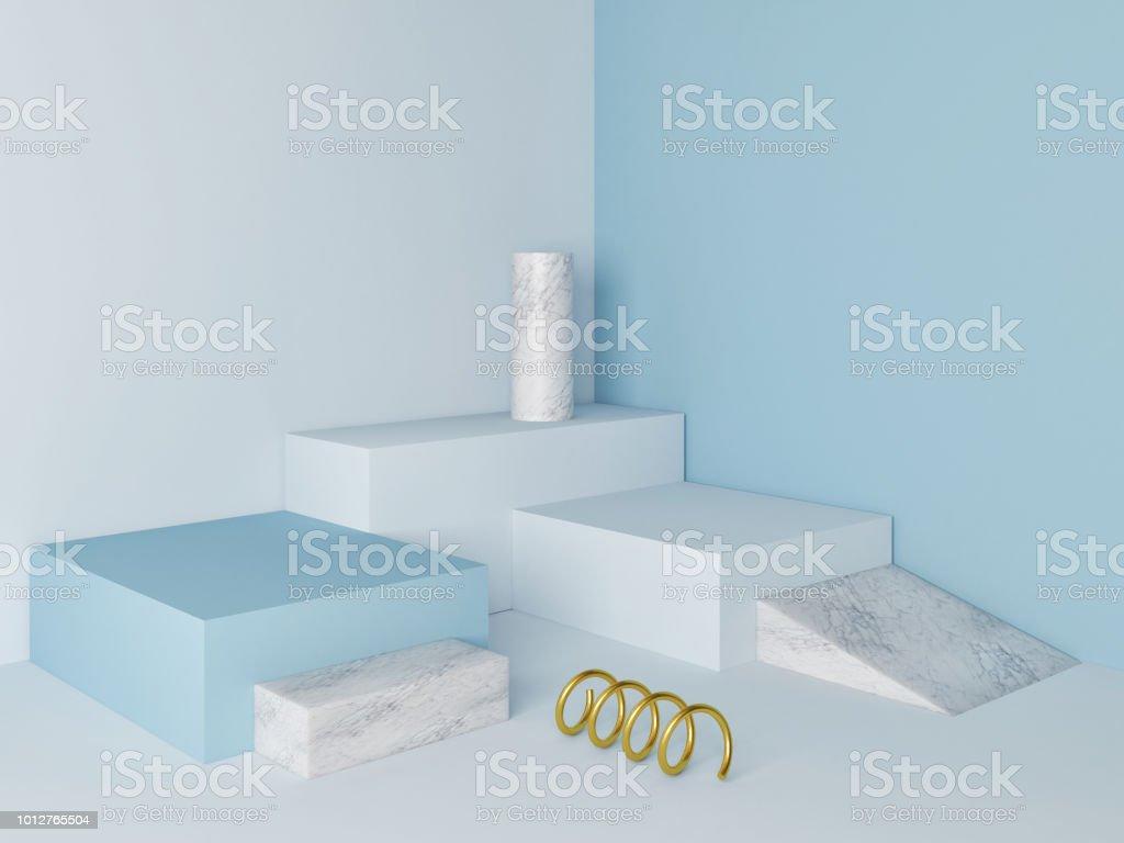 Marble  podium minimal  wall scene stock photo