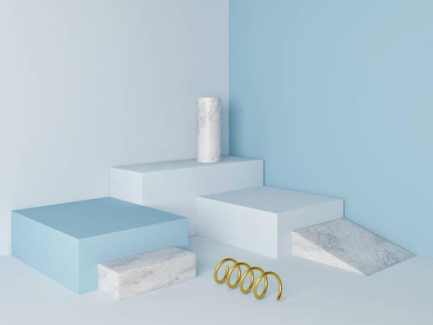 Marmor-Podest minimal Wand Szene – Foto