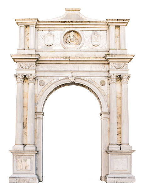Marble portal in Gothic-Renaissance style suitable as frame. Marble portal in Gothic-Renaissance style usable as frame or border. arch architectural feature stock pictures, royalty-free photos & images