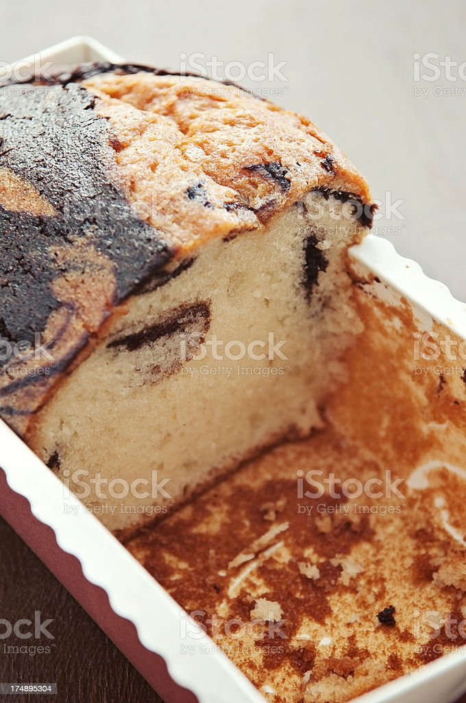 Marble Pound Cake royalty-free stock photo
