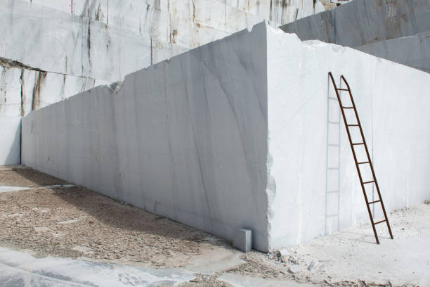Marble quarries stock photo