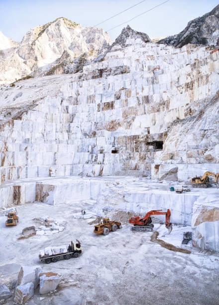 Marble Quarry - Carrara. Italy stock photo
