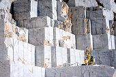 Marble quarry in Carrara, Tuscany, Italy