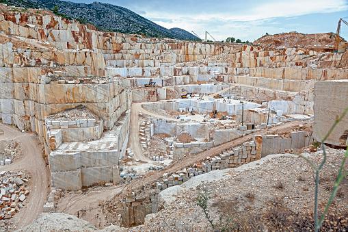 One of the many marble quarries in Orosei. Sardinia. Italy.