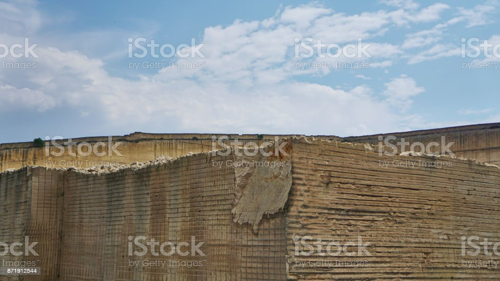 Marble Quarry Italy stock photo