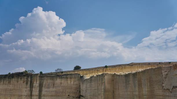 Marble Quarry Italy stock photo