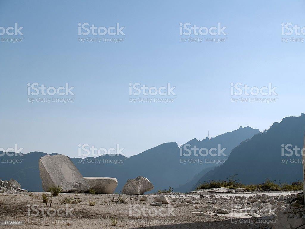 Cantera de mármol foto de stock libre de derechos