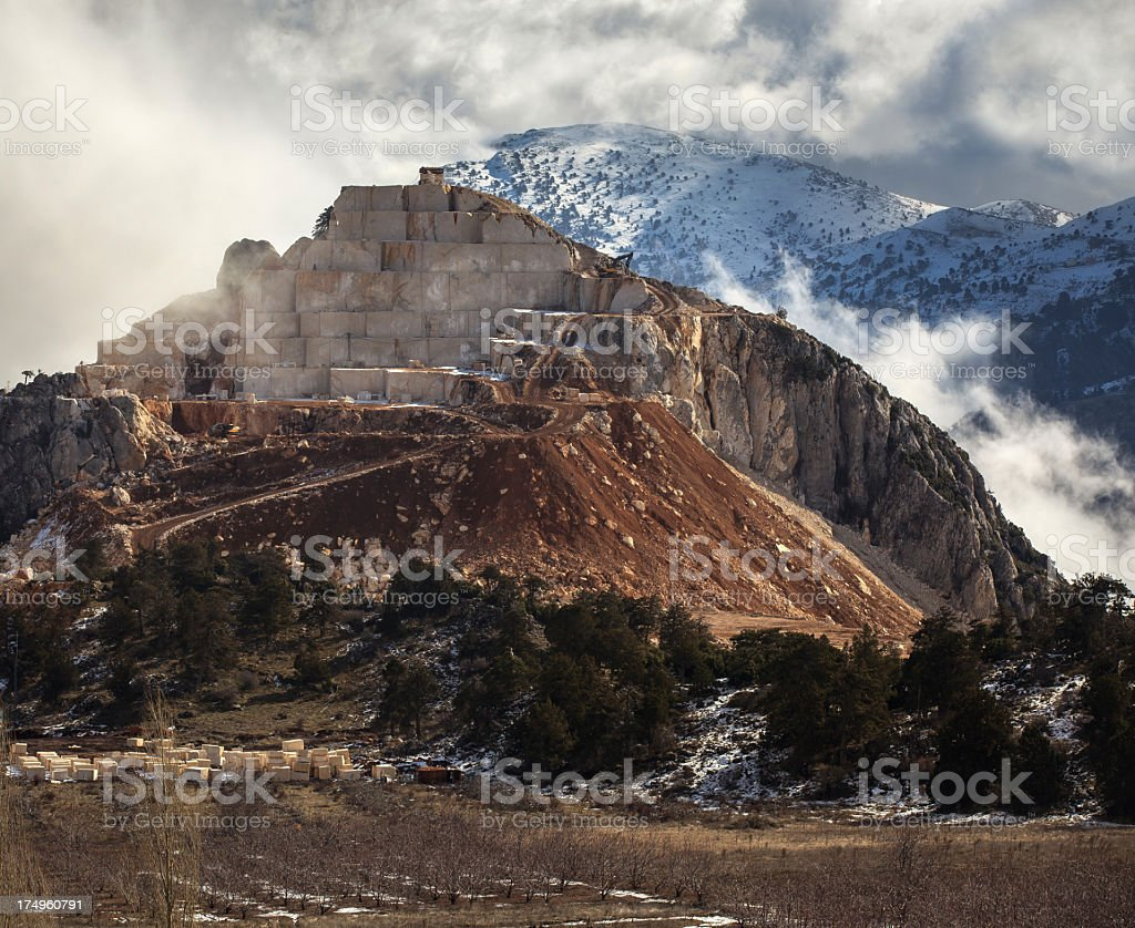 marble quarry royalty-free stock photo
