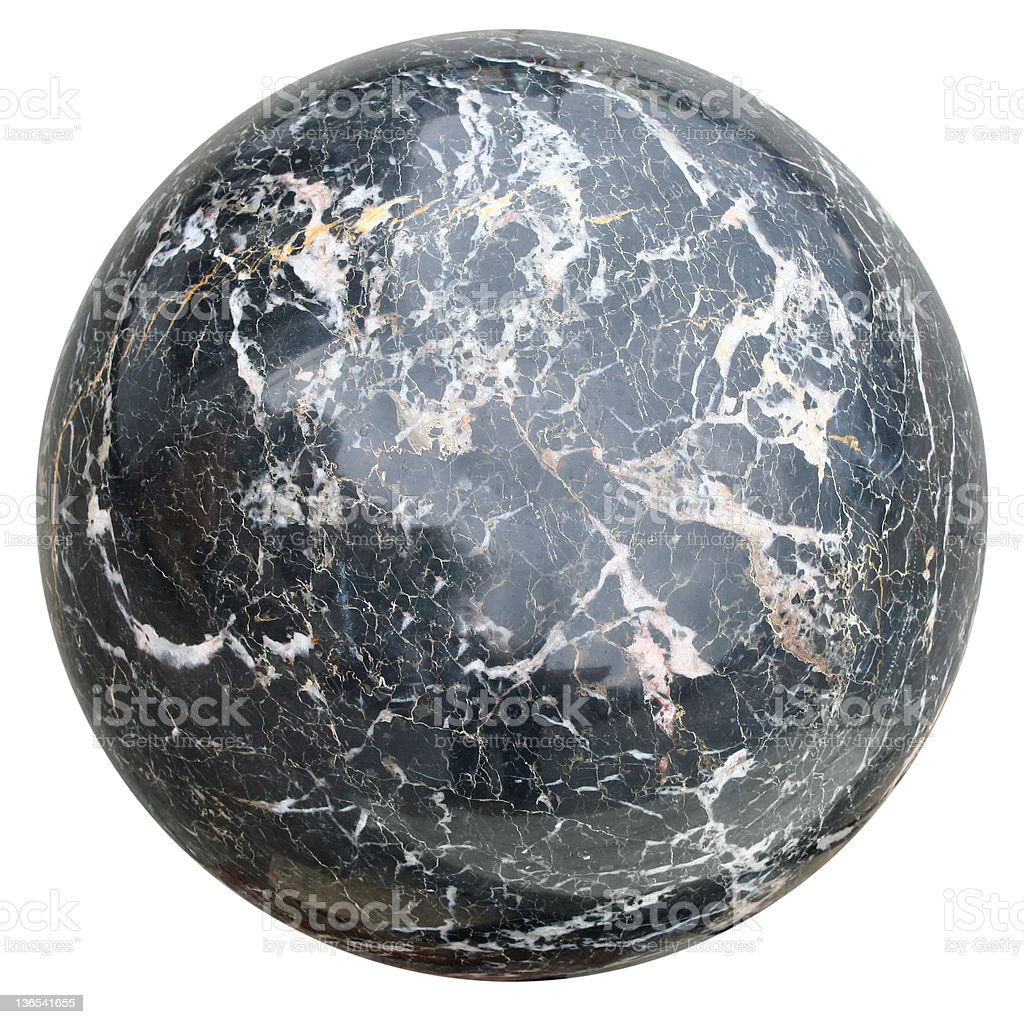 Marble sphere stock photo