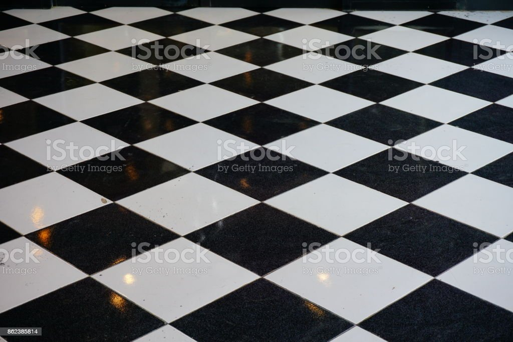 Quadratische Marmorboden – Foto