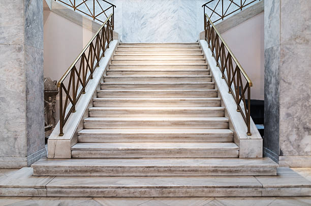 marble stairs indoors marble stairs indoors - construction detail entrance sign stock pictures, royalty-free photos & images