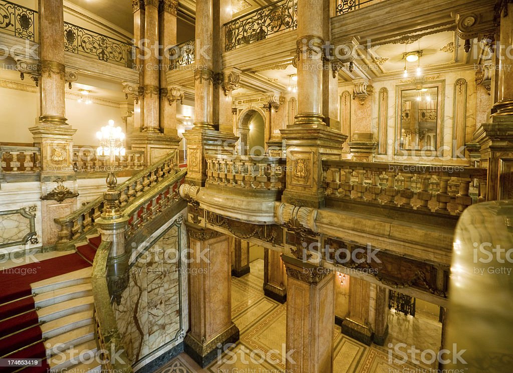 marble stairway stock photo