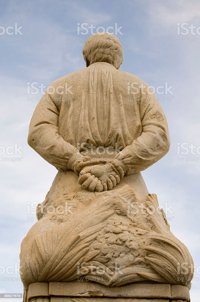 Marble statue in Siracusa royalty-free stock photo