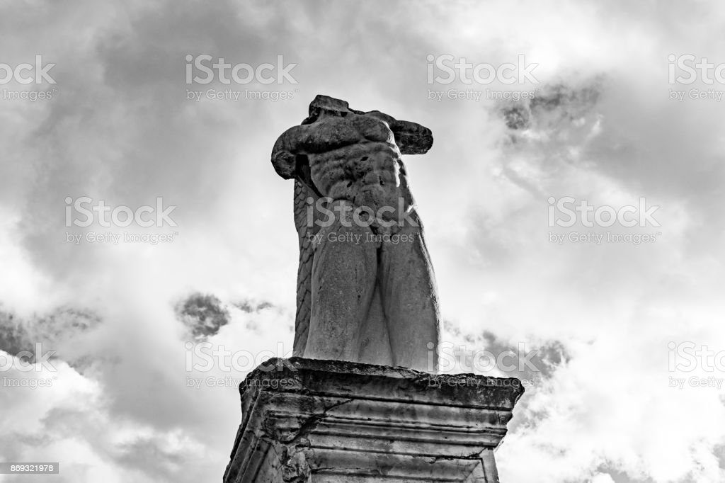 marble statue of a giant stock photo