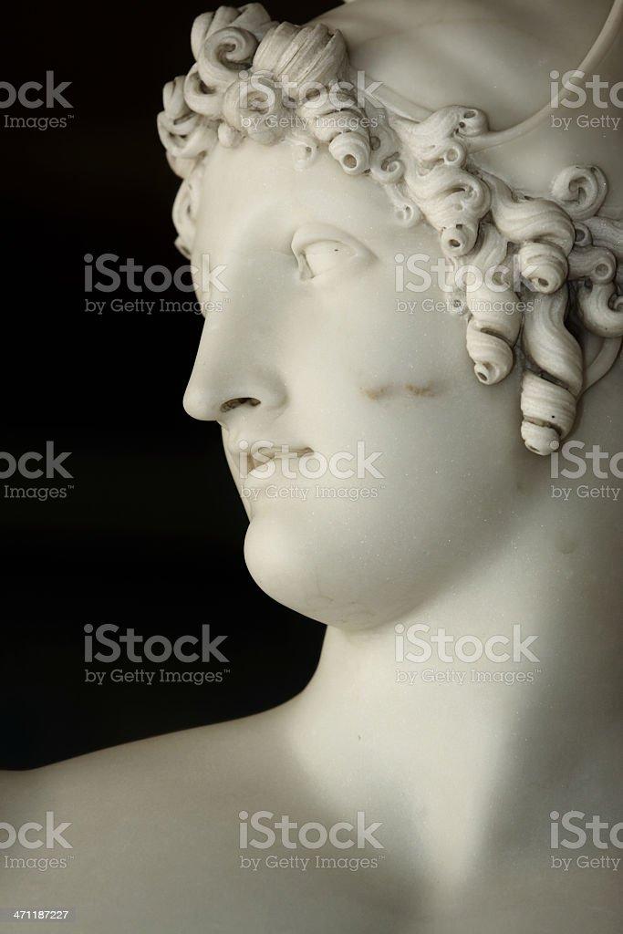 Marble statue of Greek God Apollo royalty-free stock photo