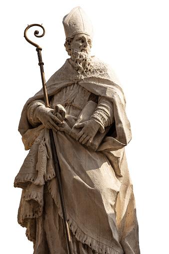 Marble statue of San Zeno - Bishop and Patron of  the Verona city