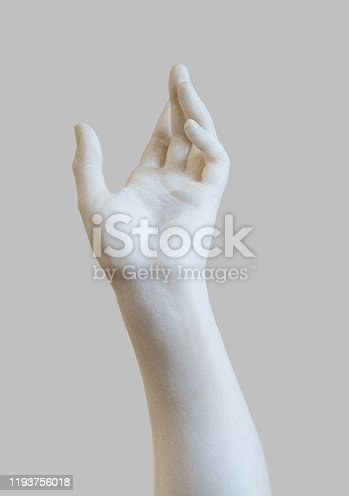istock marble statue white hand reaching out 1193756018