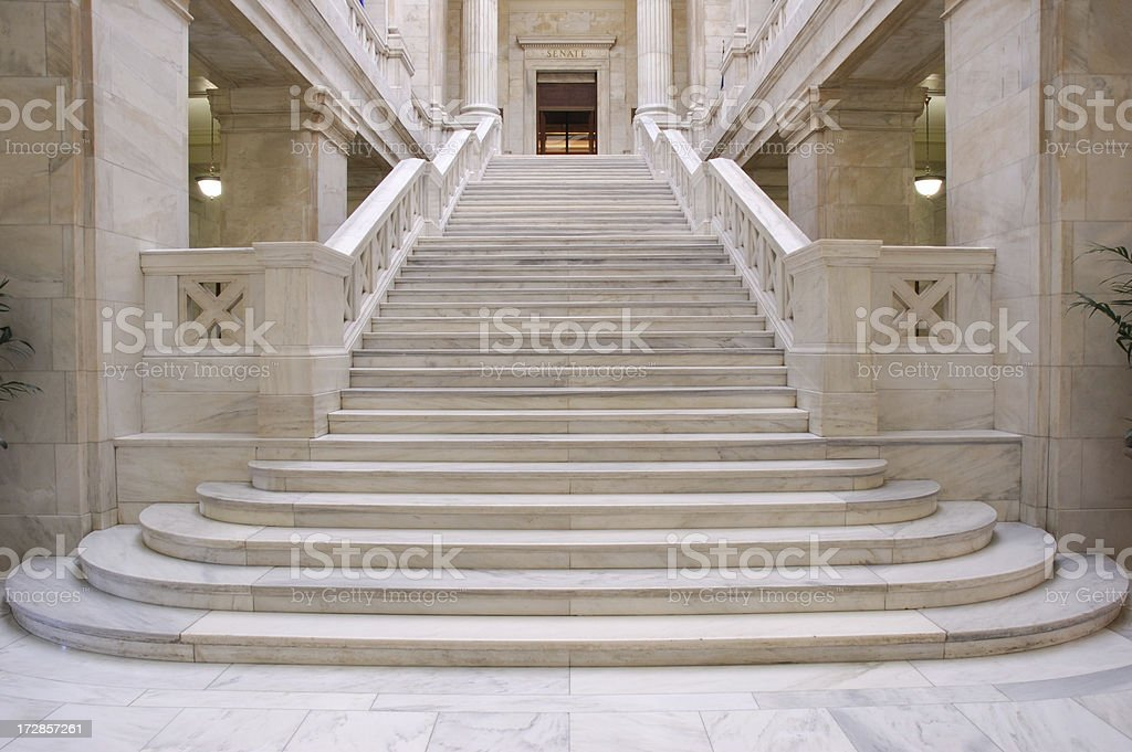 Marble Steps stock photo