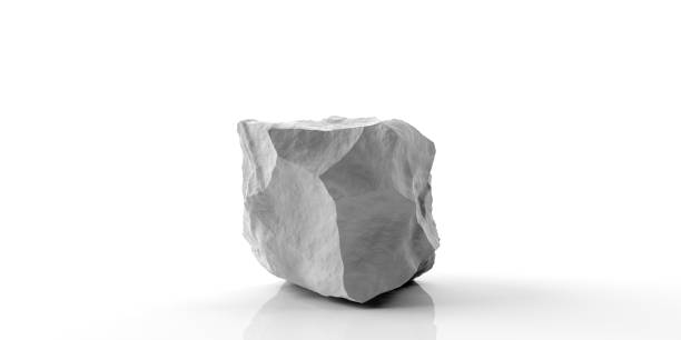 Marble stone on white background. 3d illustration White marble rock isolated on white background. 3d illustration white marble stock pictures, royalty-free photos & images