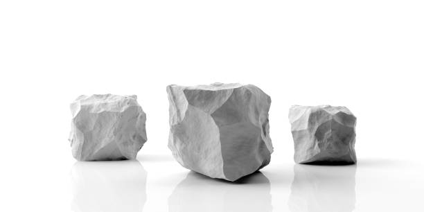 Marble stone podium on white background. 3d illustration White marble rock podium isolated on white background. 3d illustration marble rock stock pictures, royalty-free photos & images