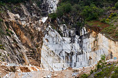 Marble stone quarry in Carrara
