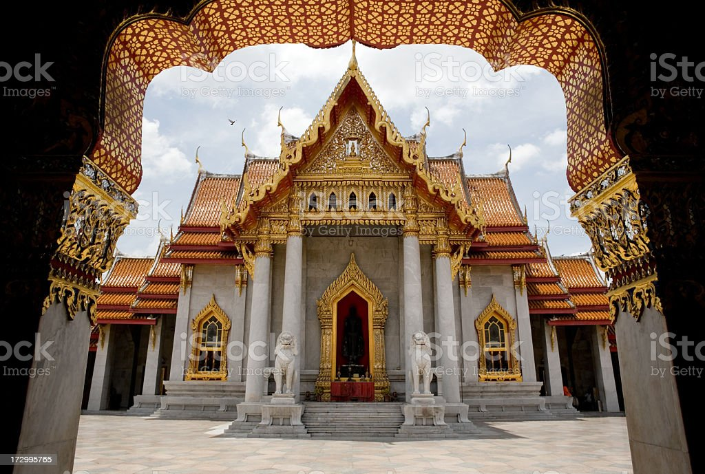 Marble Temple (Wat Benchamabophit), Bangkok, Thailand. royalty-free stock photo