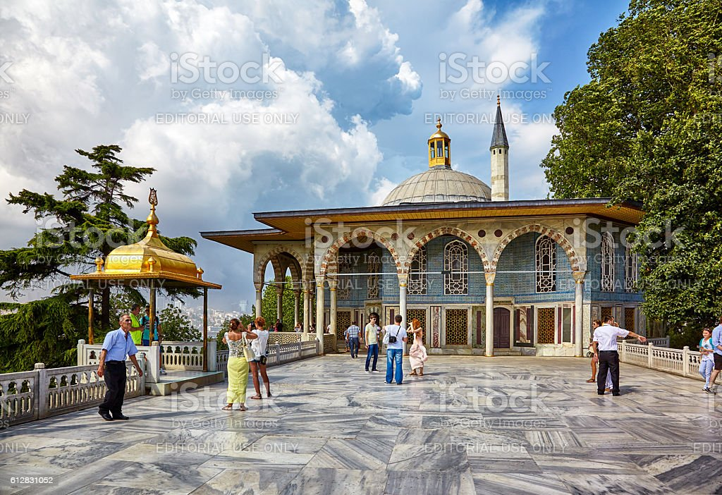 Marble Terrace in Topkapi Palace, Istanbul stock photo