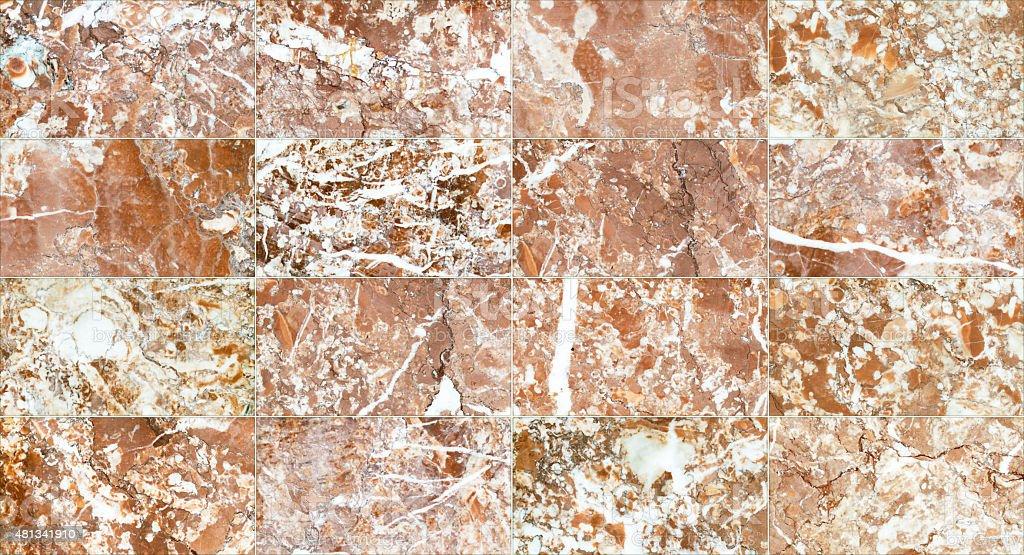 Pavimento di piastrelle in marmo seamless texture per il design