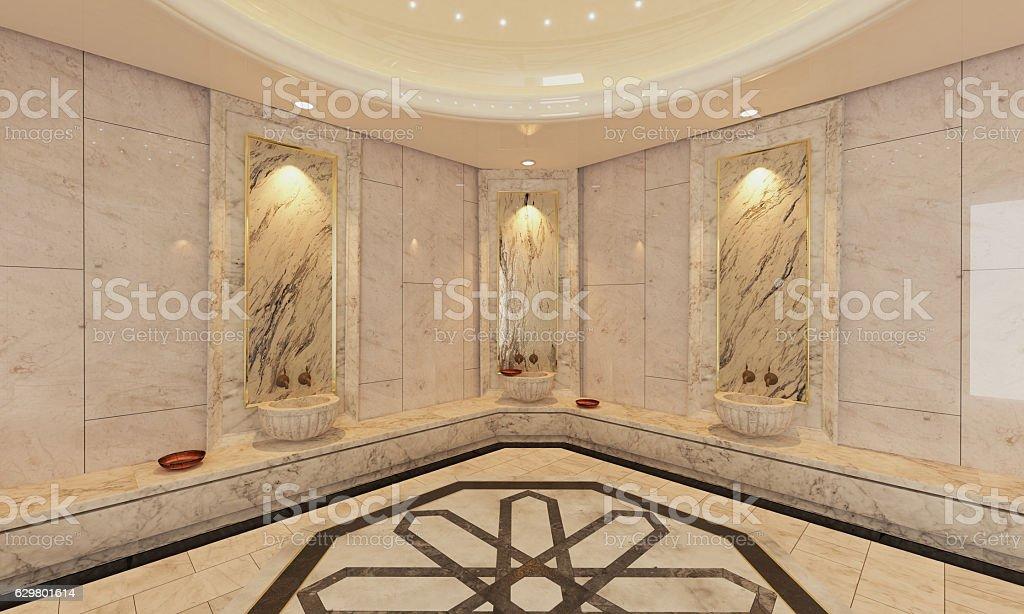 Marble Turkish Hamam Bath Modern Design Royalty Free Stock Photo