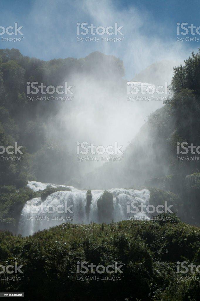 cascate delle marmore stock photo