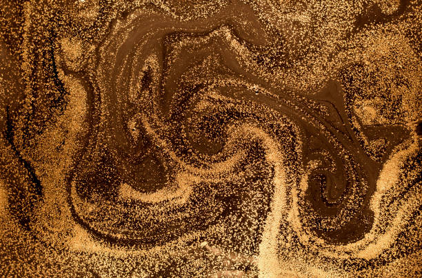 Marbled abstract background. Liquid marble pattern. Stone surface. Golden dust marble backdrop. – zdjęcie