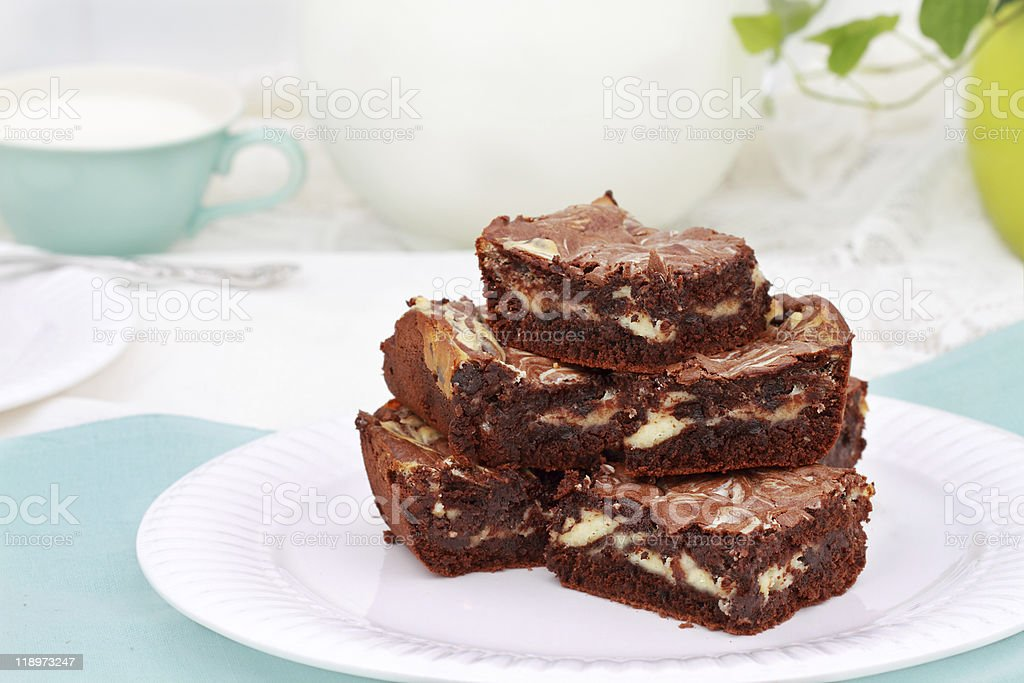 Marbled Brownies stock photo