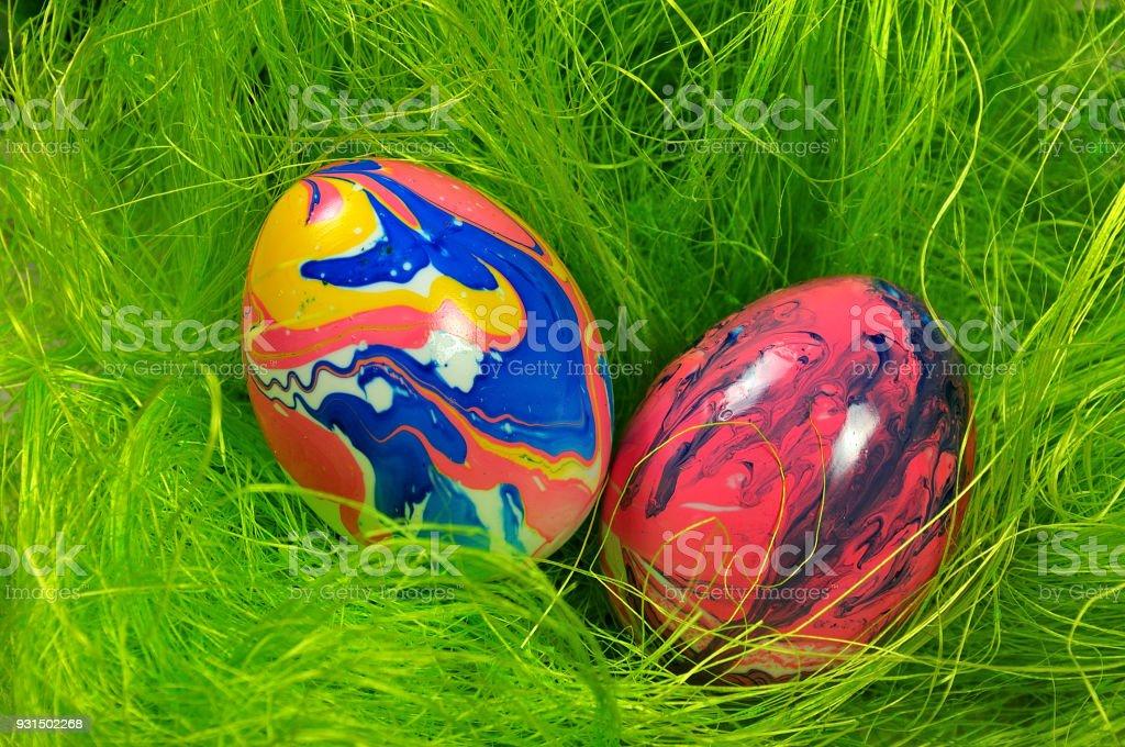 marmorierten Eiern – Foto