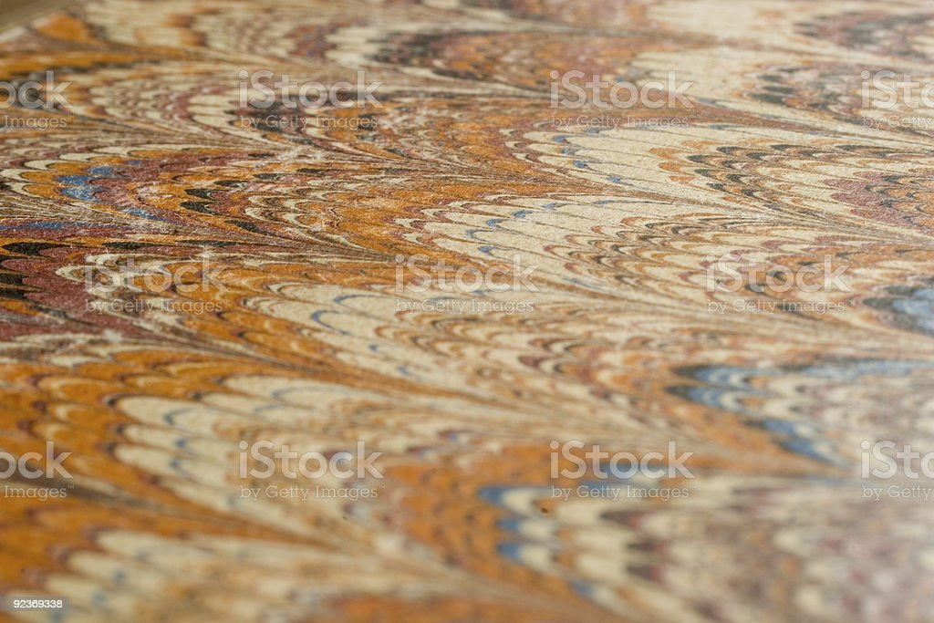 Marbled Paper Cover, Antique Book royalty-free stock photo