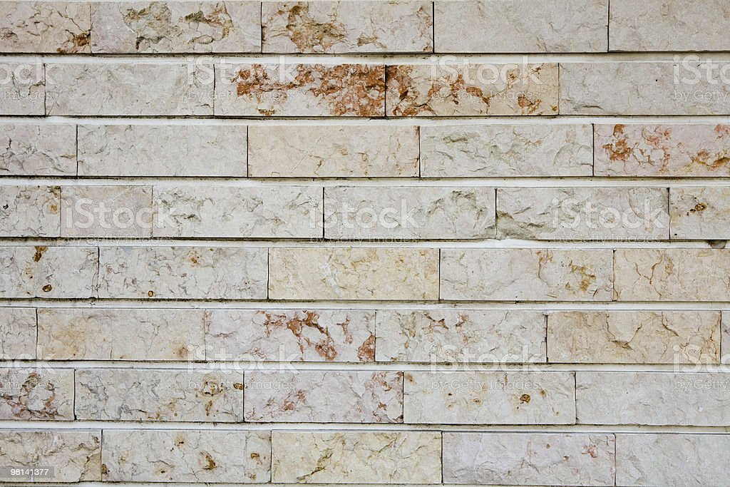 Marbled slate brick wall royalty-free stock photo