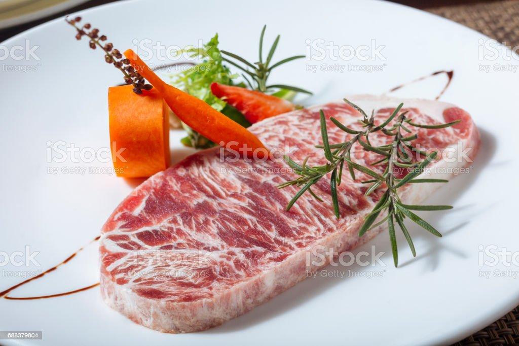 Marbled Steak stock photo