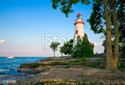 Ohio's Marblehead Lighthouse State Park on Lake Erie.  Marblehead Lighthouse is the oldest, continuously operational lighthouse on the Great Lakes. It has been featured on a U.S. postage stamp and has appeared on the license plates of Ohio's drivers.  It was recently added to the Ohio State Parks system