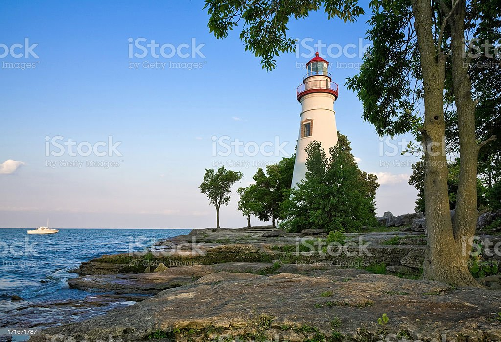 Marblehead Lighthouse - Lake Erie, Ohio stock photo