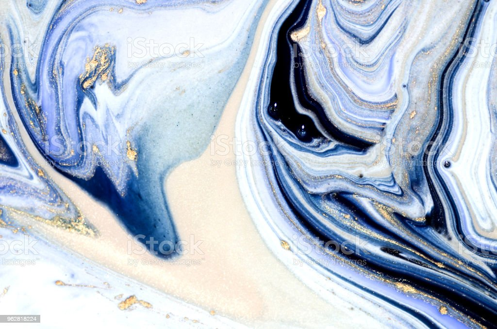 Marbling art. Style incorporates the swirls of marble or the ripples of agate. Natural Luxury. Ancient oriental drawing technique. - Foto stock royalty-free di Agata