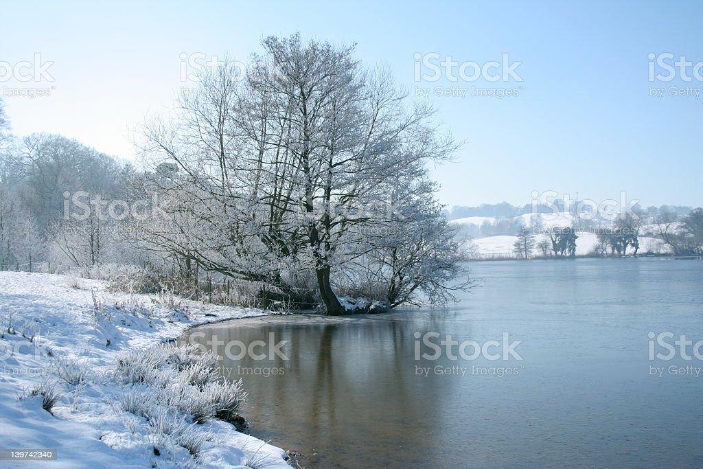 Marbury mere in winter royalty-free stock photo