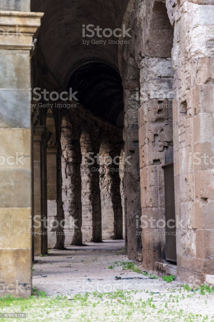 Marcello Theater in Rome, Italy royalty-free stock photo