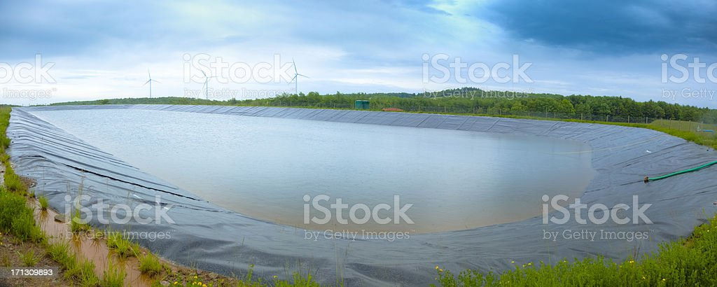 Marcellus Shale Containment Pond stock photo