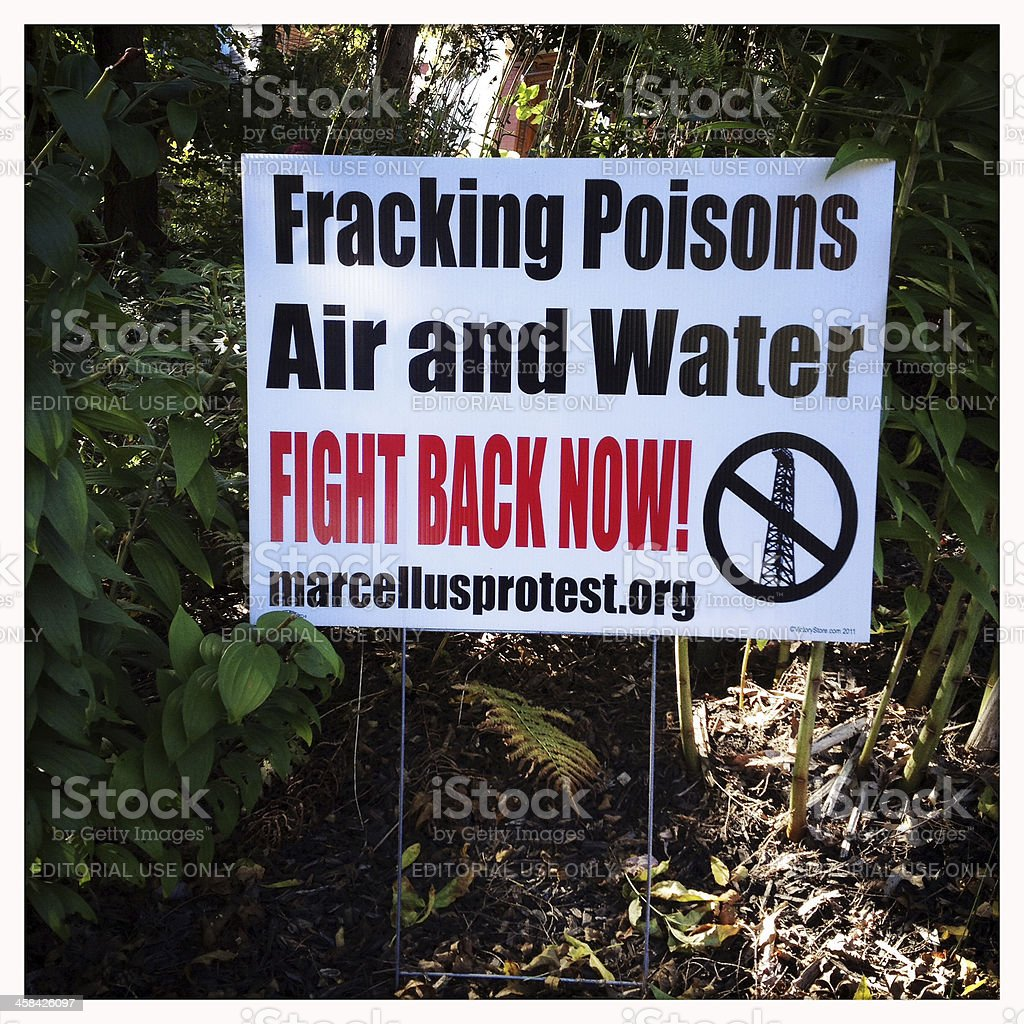 Marcellus Shale Fracking Poisons stock photo