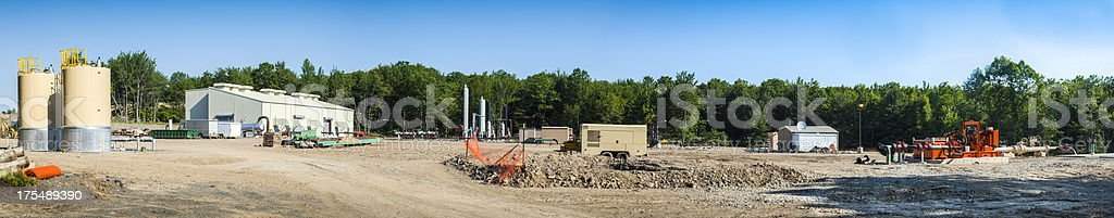 Marcellus Shale Gas Pipeline stock photo
