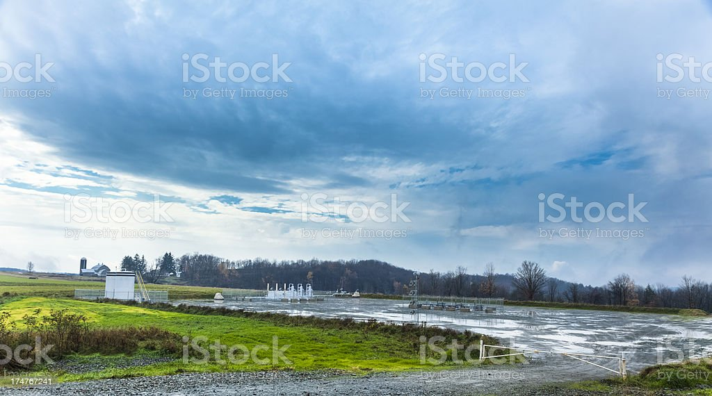 Marcellus Shale Gas Well Site stock photo