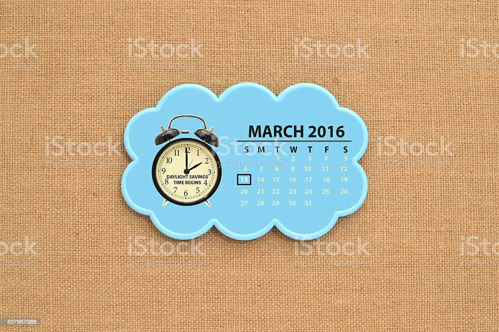 March 13 Daylight Savings Time Begins stock photo