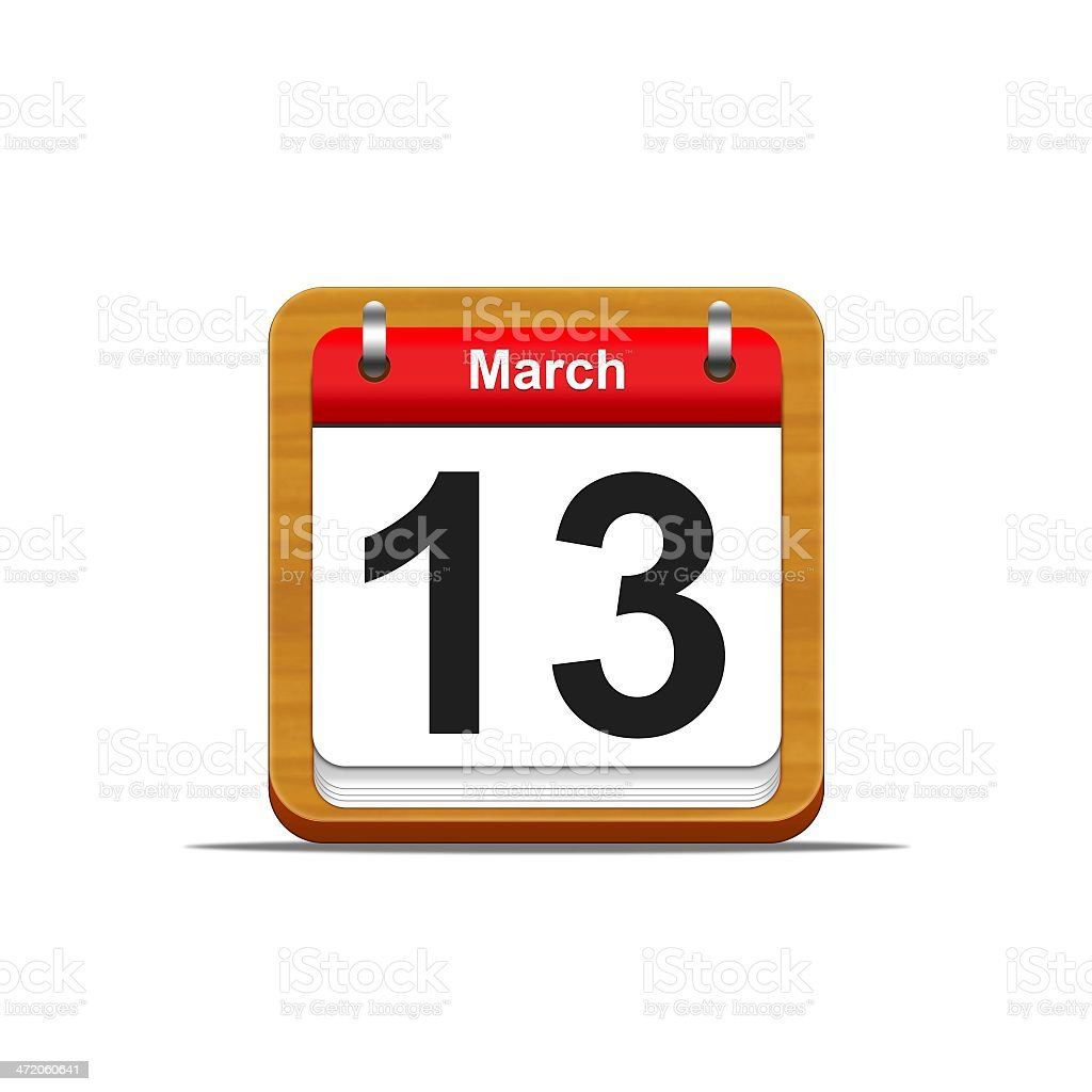 March 13. stock photo